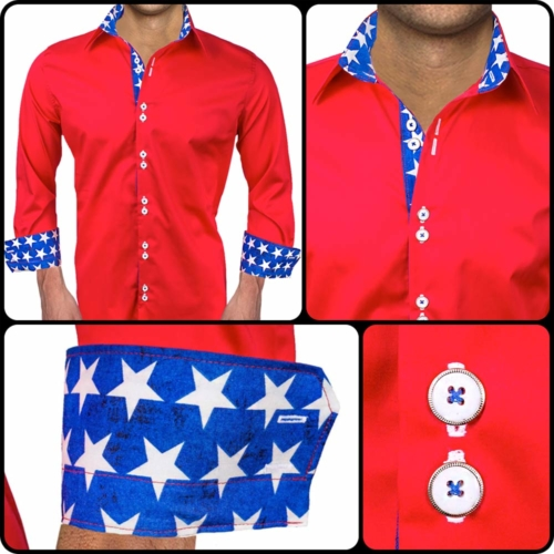 American Flag Dress Shirts