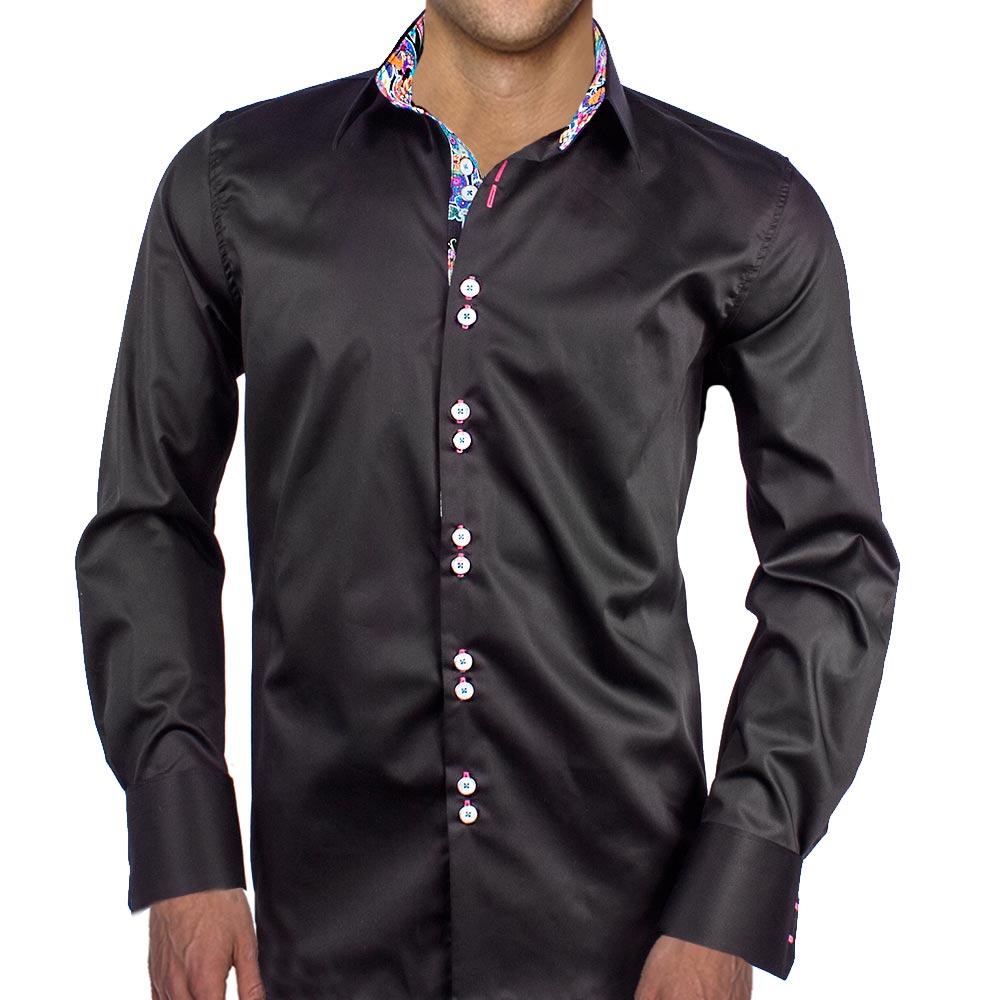 Black Designer Dress Shirts
