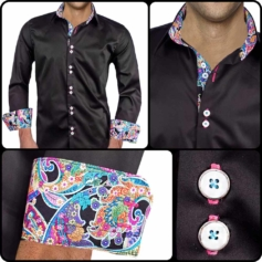Black Designer Dress Shirts