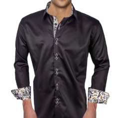 Black Silver Dress Shirts