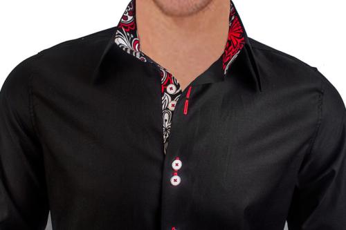 black-with-white-dress-shirts