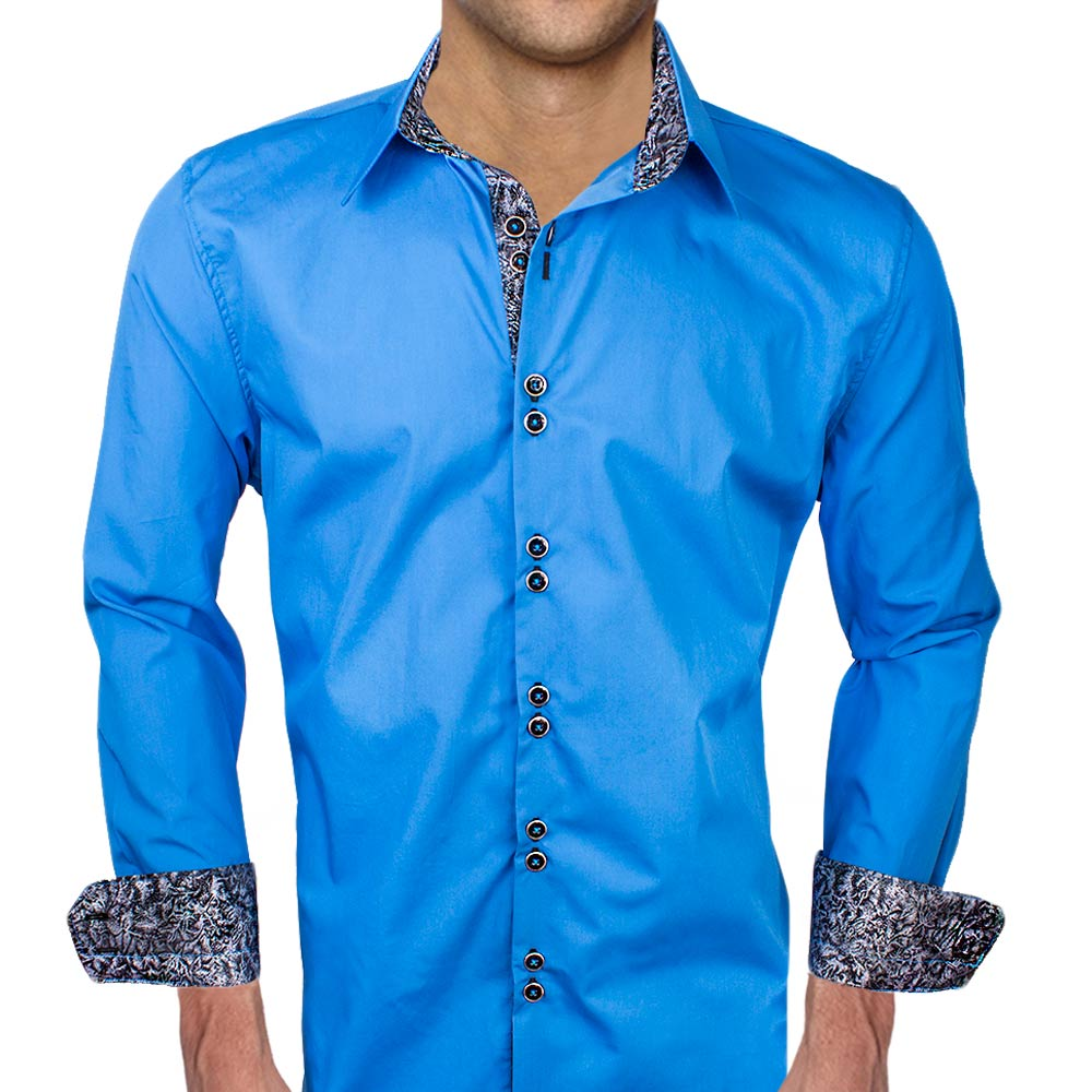 Blue Black Dress Shirts