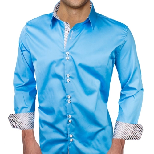 Light Blue Casual Dress Shirts