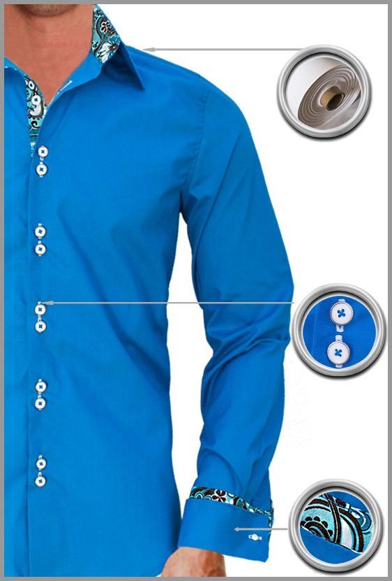 Blue French Cuff Dress Shirts