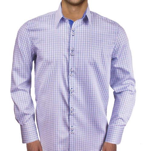 Blue Plaid Dress Shirts