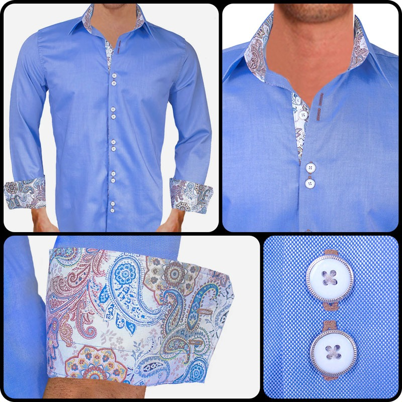 Blue Brown Dress Shirts