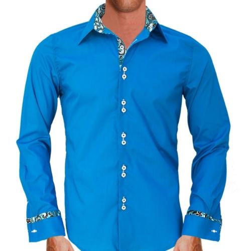 bright-blue-french-cuff-dress-shirts