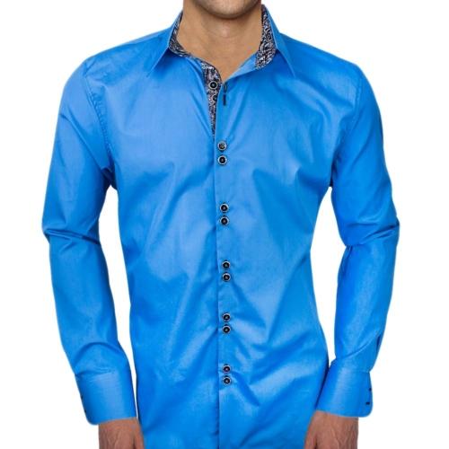 Blue Black Dress Shirts