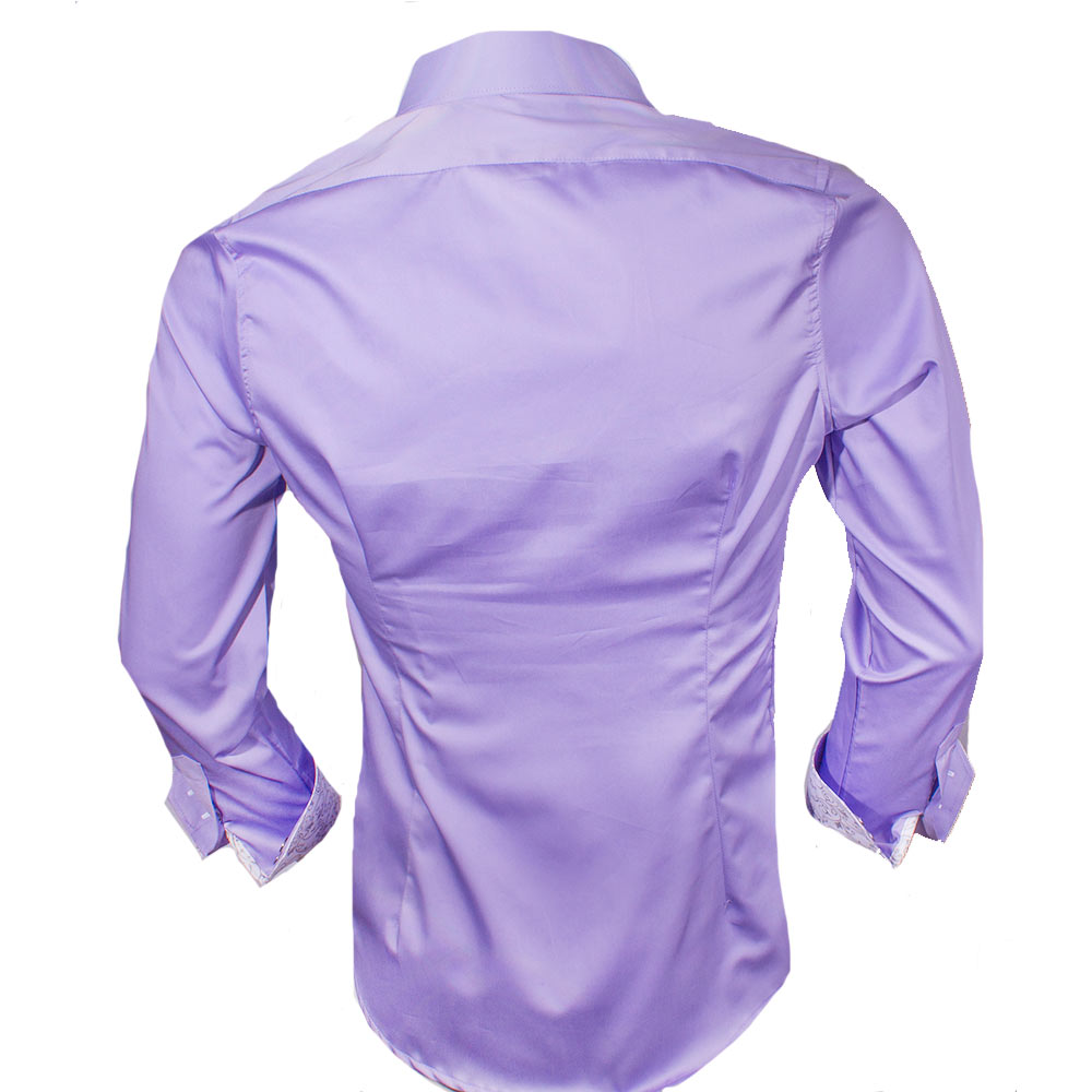 Purple White Dress Shirts