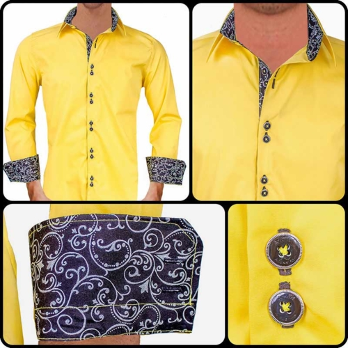 bright-yellow-with-black-contrast-dress-shirts