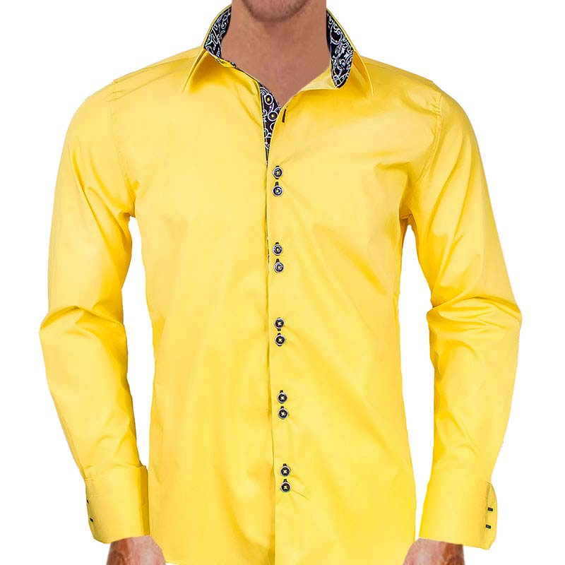 bright-yellow-with-black-mens-dress-shirts
