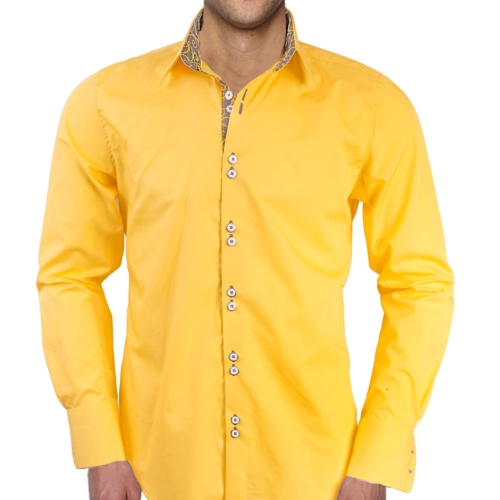 Yellow Gray Dress Shirts