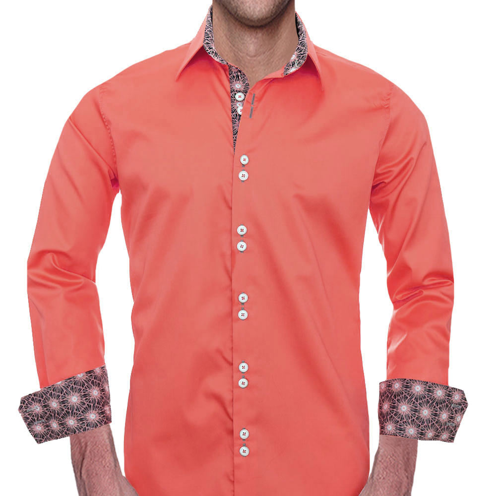 hot product limited sale affordable price Coral Casual Dress Shirts