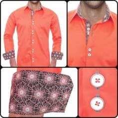 Coral Casual Dress Shirts