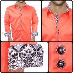 Coral Casual Dress Shirts