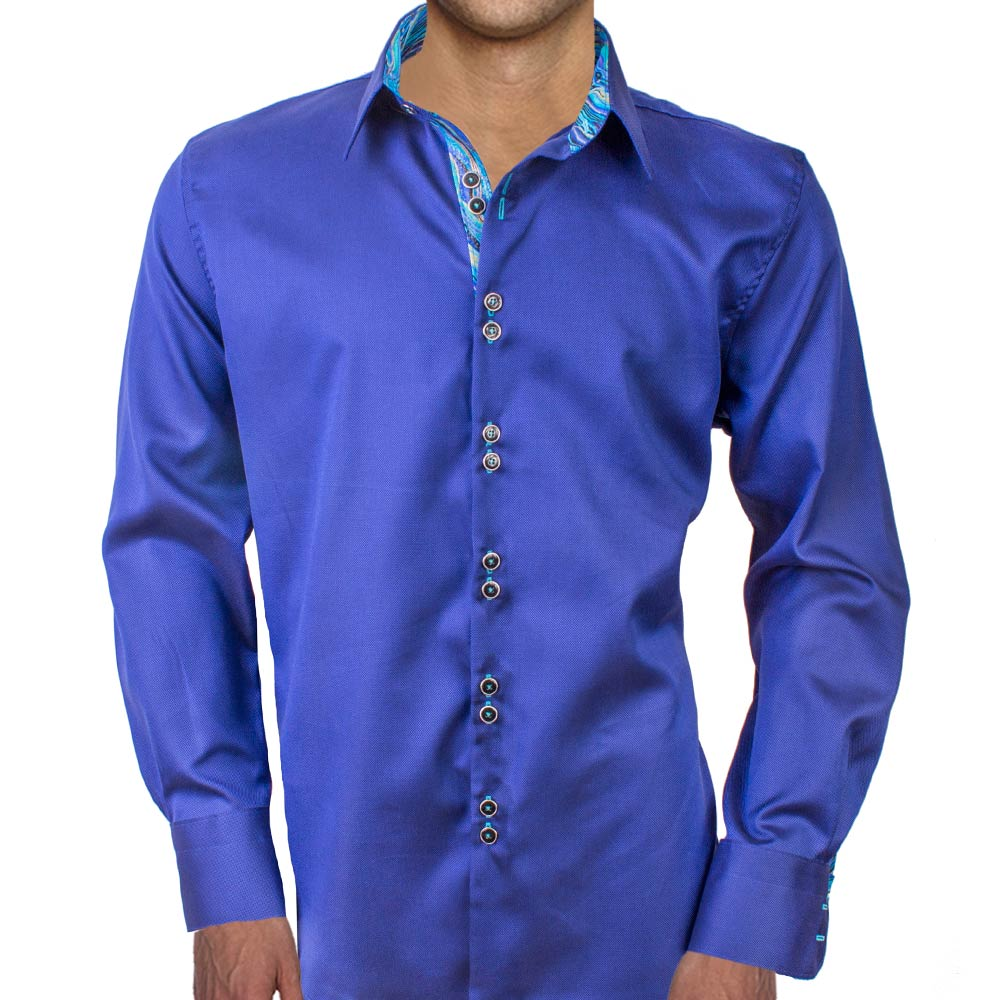 Navy Blue Casual Dress Shirts