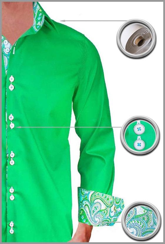Green Paisley Dress Shirts