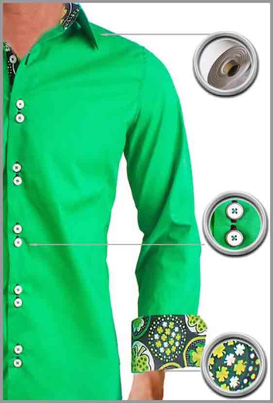 Green St Patricks Day Dress Shirts