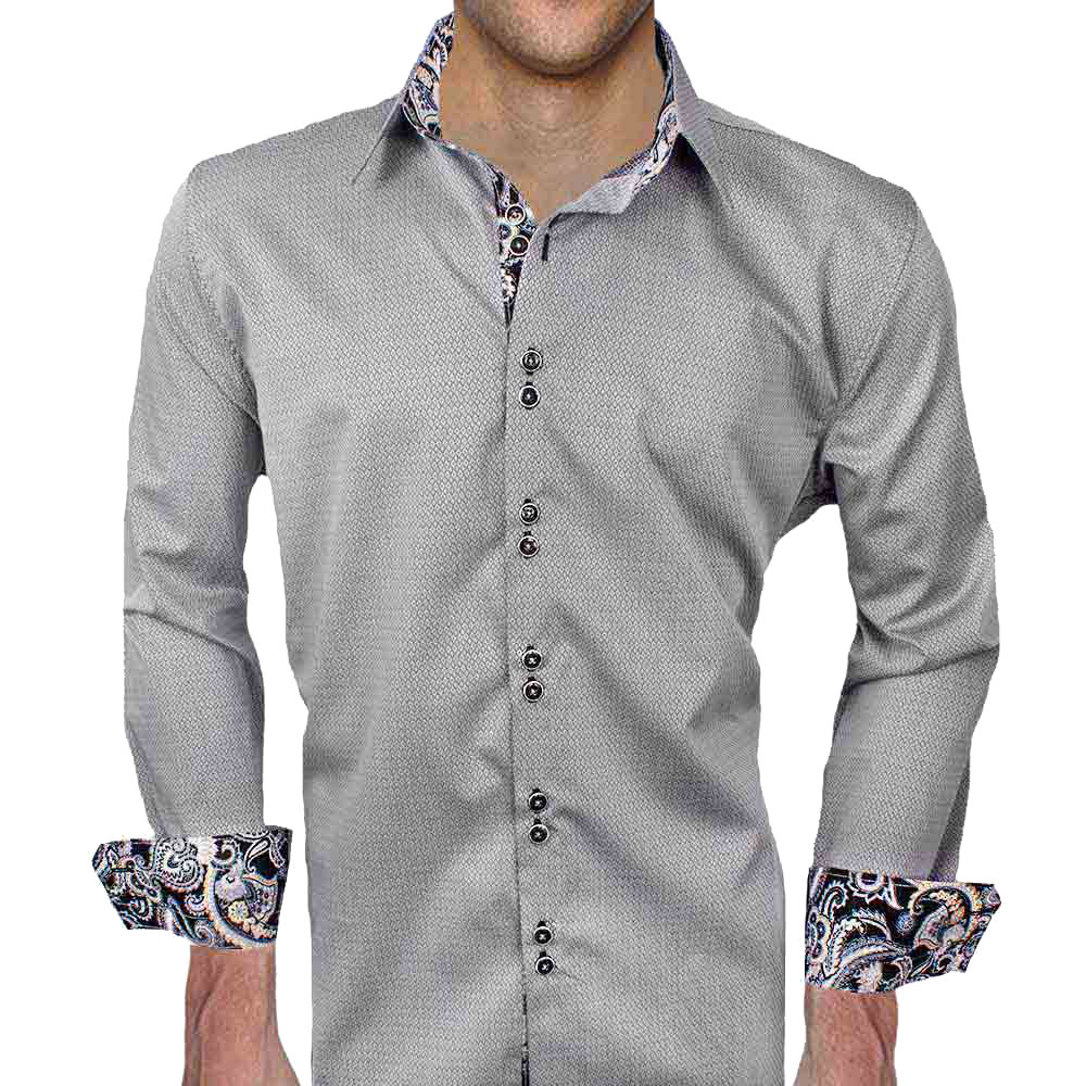 Gray black dress shirts for Dark grey shirt dress