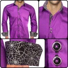 Purple Halloween Dress Shirts