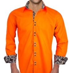 Orange Halloween Dress Shirts