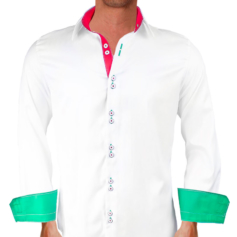 Italian Flag Dress Shirt