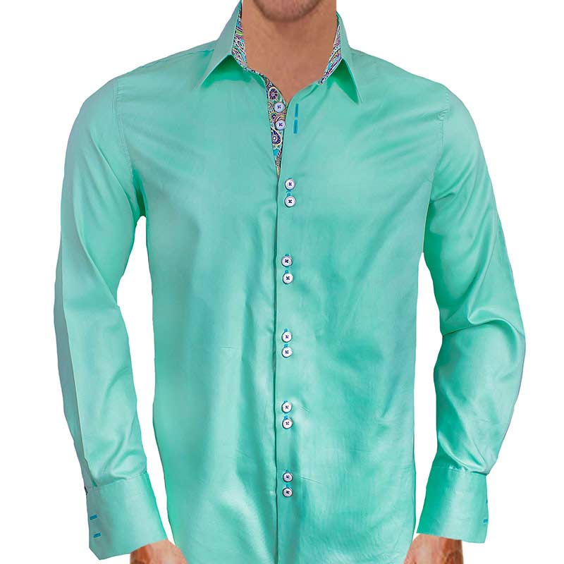 Mens Dress Shirt With Colored Cuffs