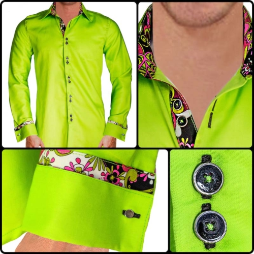 Lime Green French Cuff Dress Shirts