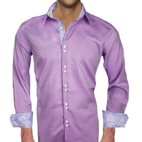 Purple Paisley Dress Shirts