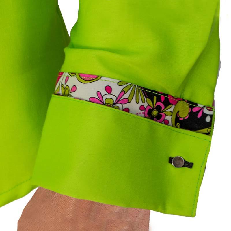 Lime Green French Cuff Dress Shirts