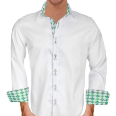 White St Patricks Day Dress Shirts