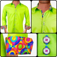 mens-lime-green-dress-shirts