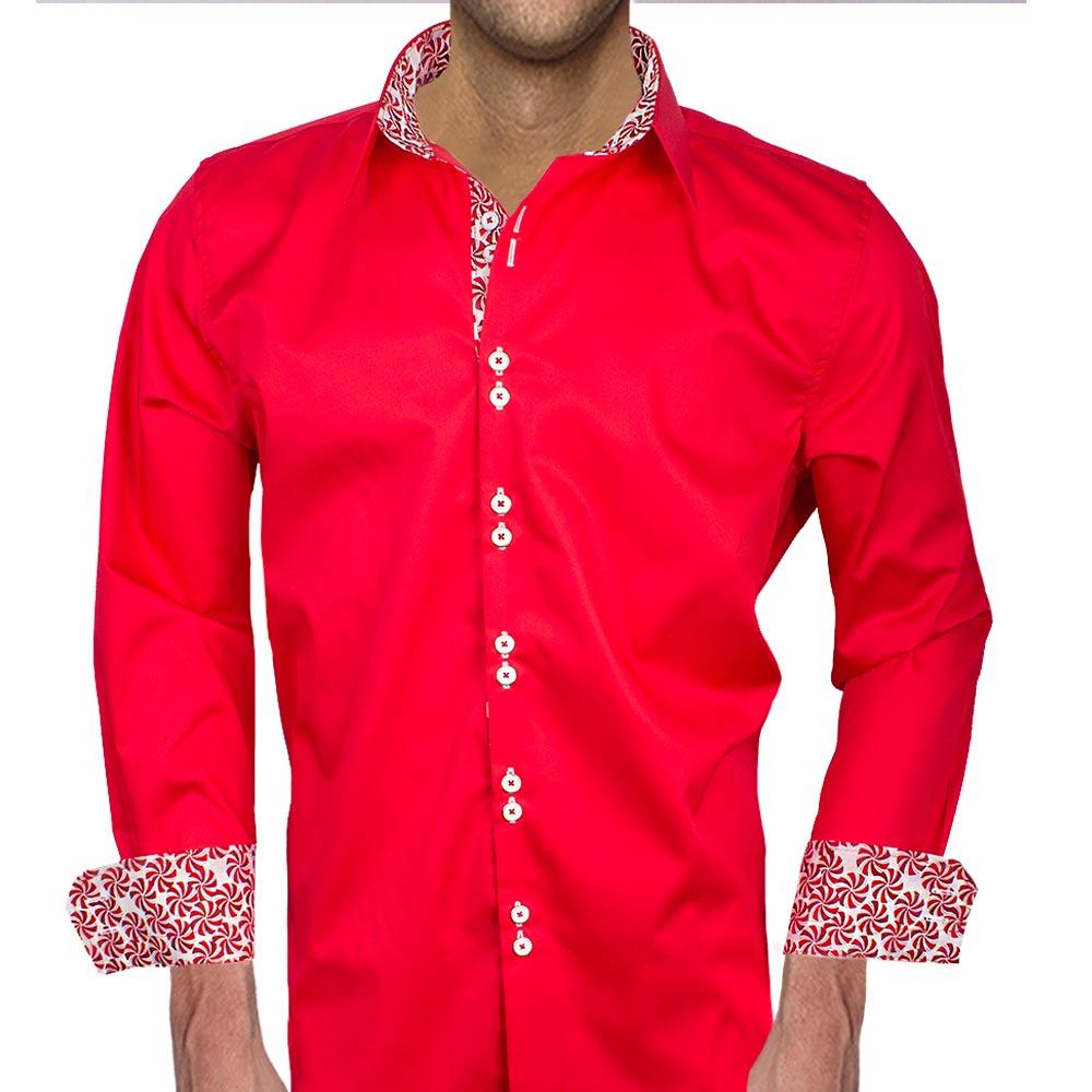 mens red christmas dress shirts - Red Christmas Dress
