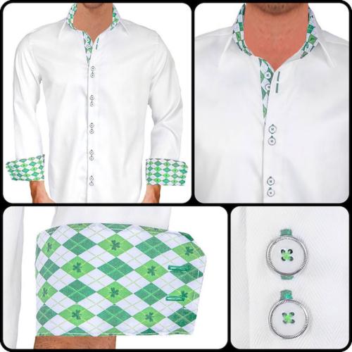 White St Patricks Day Dress Shirts