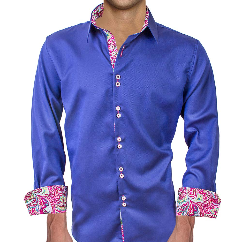 navy blue pink dress shirts