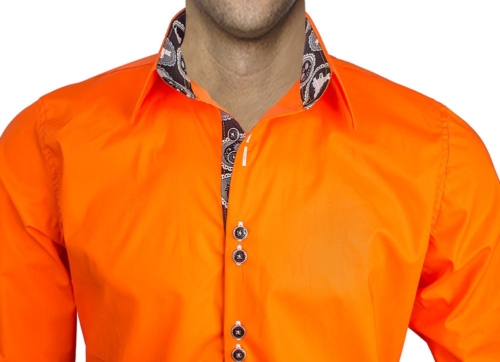 Orange Halloween Dress Shirts