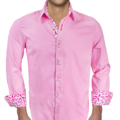Pink Breast Cancer Mens Shirts