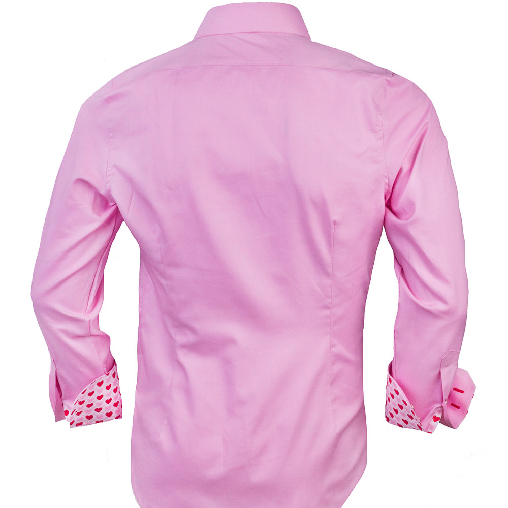 Pink Valentines Day Dress Shirts