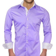 Purple White Dress Shirts