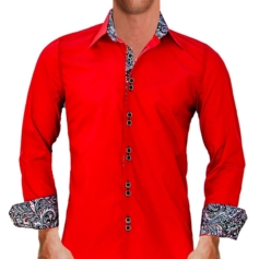 red-with-black-dress-shirts