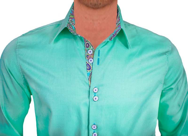teal-designer-dress-shirts