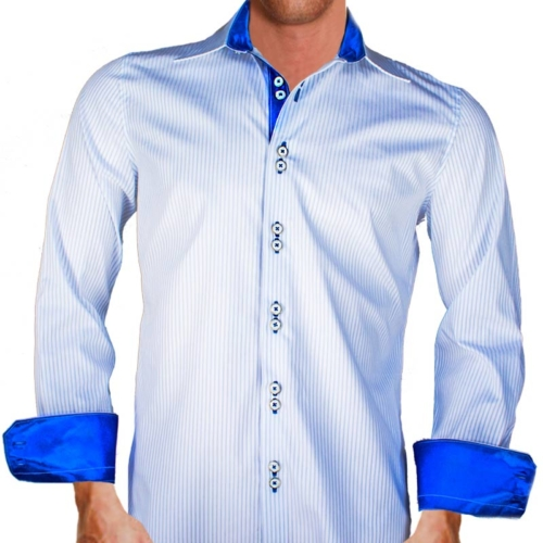 Striped-blue-dress-shirts