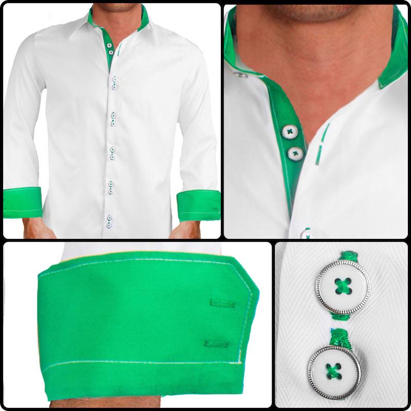 white-with-green-cuffs-dress-shirts