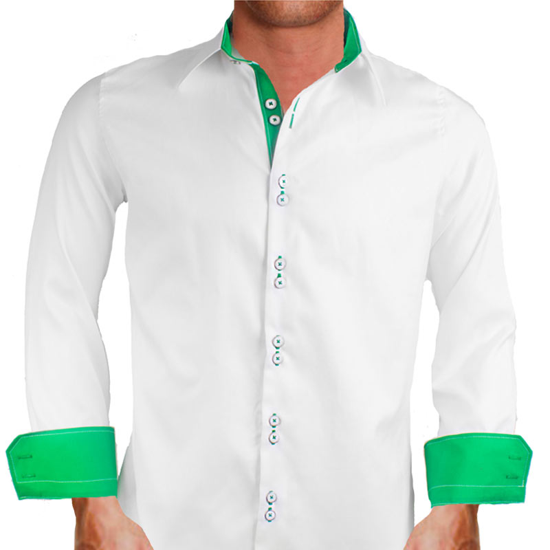white custom dress shirts