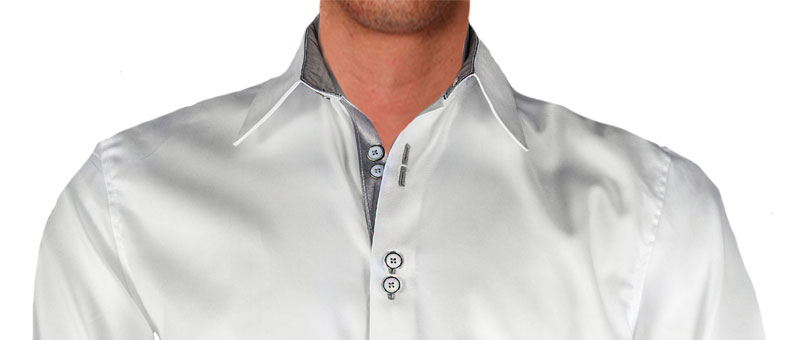 white-with-silver-designer-dress-shirts