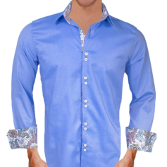 Blue Brown Dress Shirts