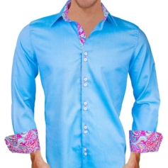 Blue Pink Dress Shirts