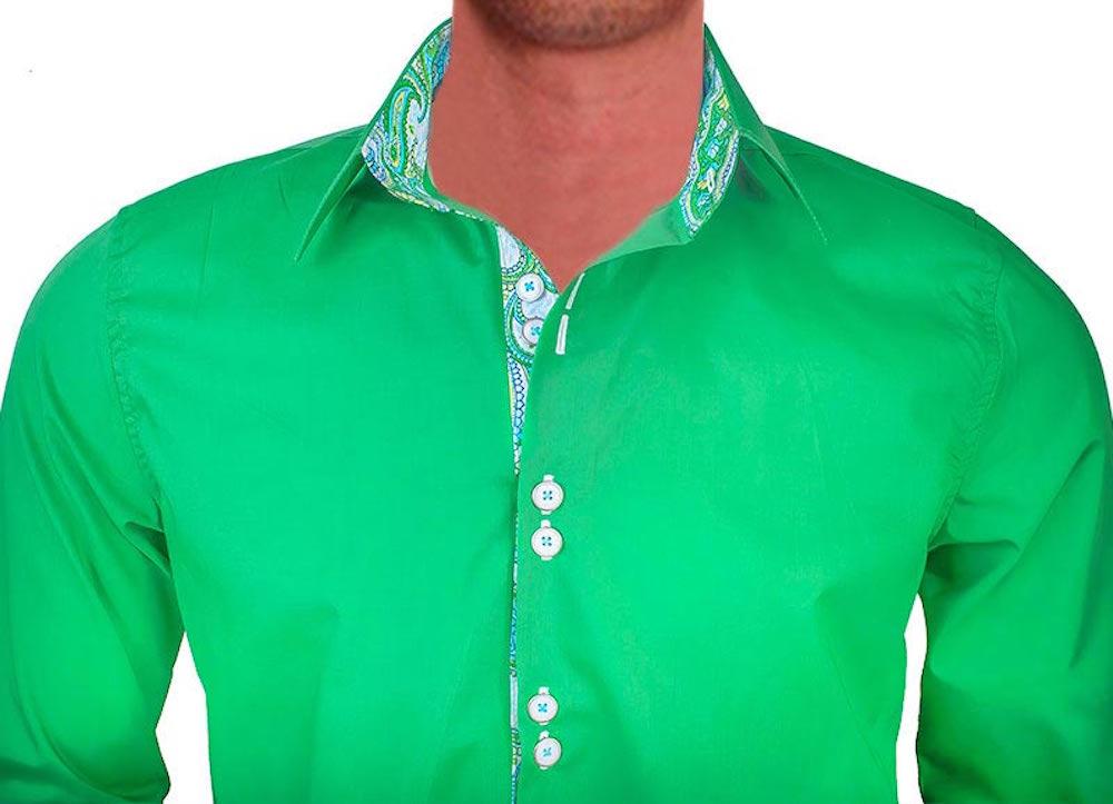 bright-green-with-white-dress-shirts