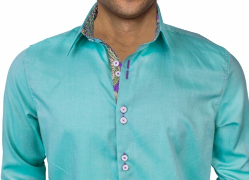 Green Purple Dress Shirts