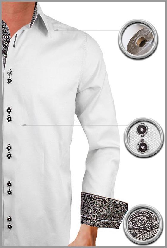 Gray Paisley Dress Shirts